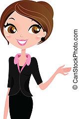 Modern business woman. Vector Illustration