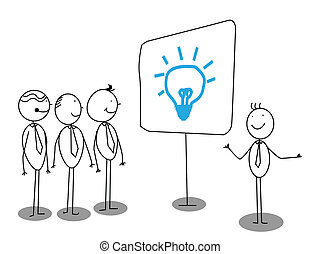 Businessman Presentation about idea