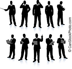Businessman Silhouette Collection Original Vector Illustration People Silhouette Sets