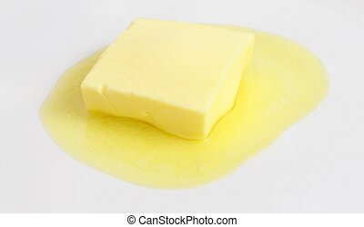 Melting butter on a plate
