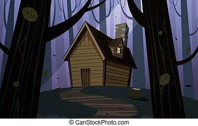 Cabin in Woods - Night