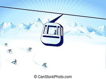 cable-way and winter sports