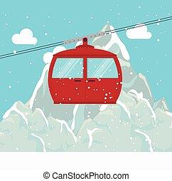 cable way snow mountain design
