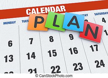 Planning calendar as a concept