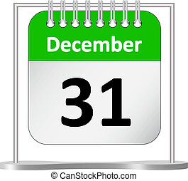 Calendar - Last day of the year %u2013 December 31st