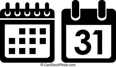 Calendar vector icon isolated on white