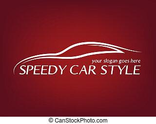 Calligraphic car logo
