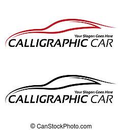 Calligraphic car logos