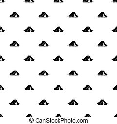 Camping tent pattern vector