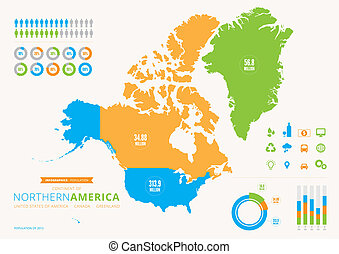 An info graphic of Canada with map and icons