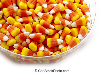 Candy corn as a halloween give away treat.