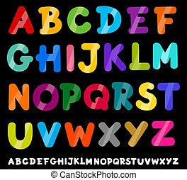 capital letters alphabet cartoon illustration