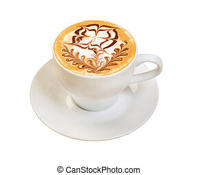 cappuccino cup. coffee . isolated on a white background.