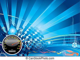 Car racing concept design, vector illustration layered.