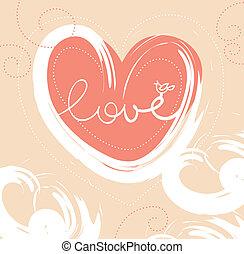 Card of valentine day