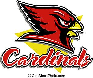 cardinal head mascot