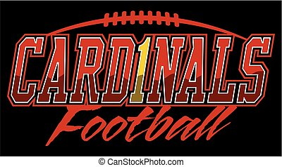 cardinals football team design with laces for school, college or league