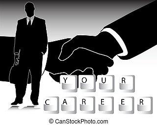 career and handshake
