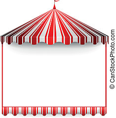 detailed illustration of a carnivals frame with a circus tent on top