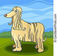 cartoon afghan hound dog