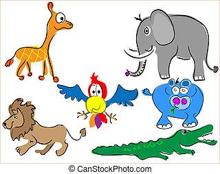 cartoon africa animals