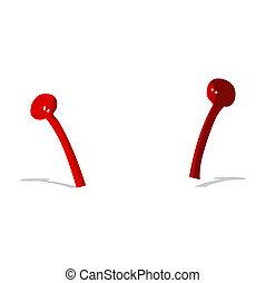 cartoon alien antennae