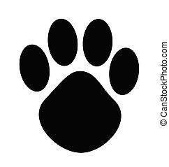 cartoon animal paw print vector