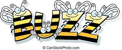Cartoon Bee Buzz