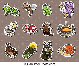 cartoon bug stickers