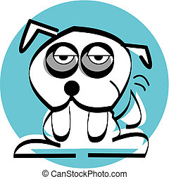 Cartoon Bulldog Vector Clip Art