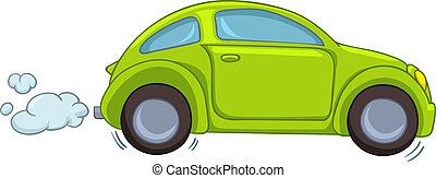 Cartoon Car Isolated on White Background. Vector EPS8.