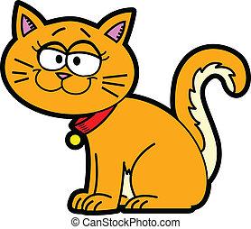 Orange cartoon pet cat