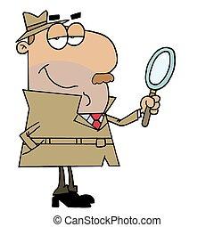 Cartoon Character Hispanic Cartoon Detective Man