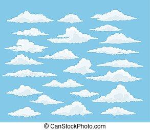 Cartoon cloud set