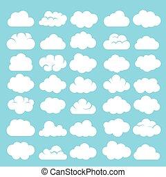 Cartoon clouds set