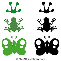 Cartoon Different Silhouettes