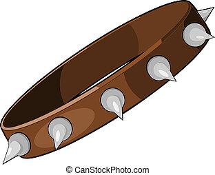 Cartoon dog collar. eps10