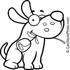 Cartoon Dog Rose