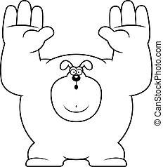 Cartoon Dog Surrender