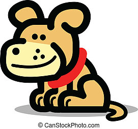 Cartoon dog with happy expression