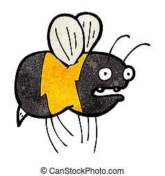 cartoon fat bumble bee