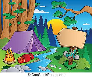Cartoon forest landscape 6