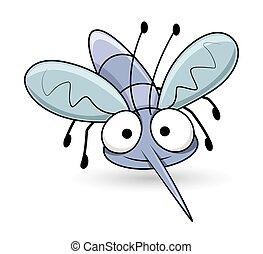 Cartoon Funny Mosquito