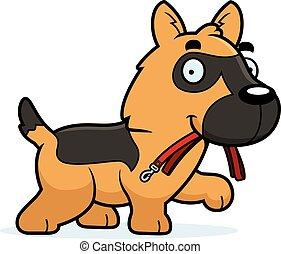 Cartoon German Shepherd Leash