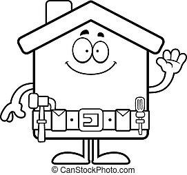 Cartoon Home Improvement Waving