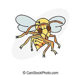 Cartoon hornet