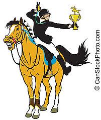 cartoon horse rider
