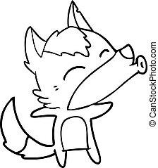 cartoon howling wolf