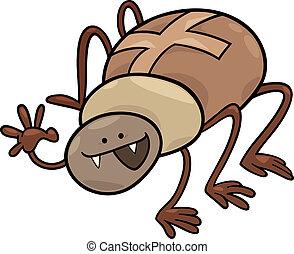 cartoon illustration of funny cross spider