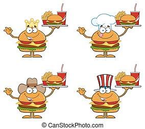 Hamburger Characters 2. Collection